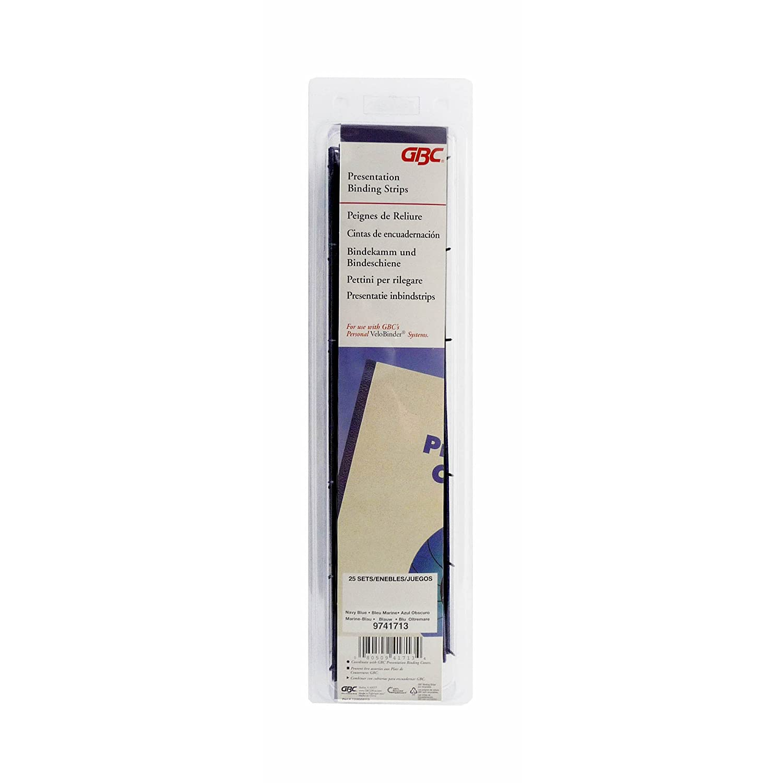 GBC VeloBind Bindestrips, 45mm, 25 Stück, A4, weiß 25 Stück weiß 9741639