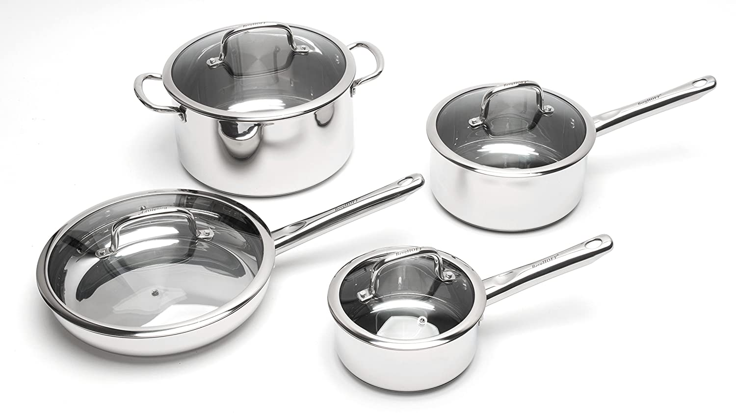 BergHOFF 2211097 EarthChef Boreal 8-Piece Cookware Set SS