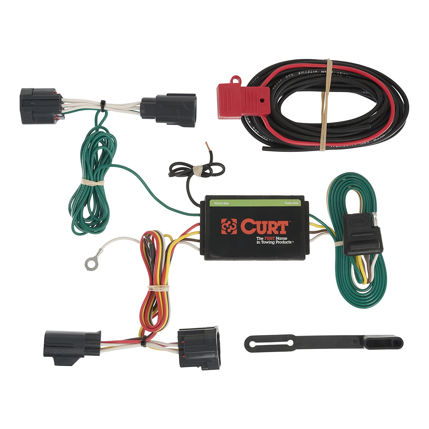 81LkYrKUmEL._SL1500_ amazon com curt 56183 custom wiring harness automotive dodge nitro trailer wiring harness at soozxer.org