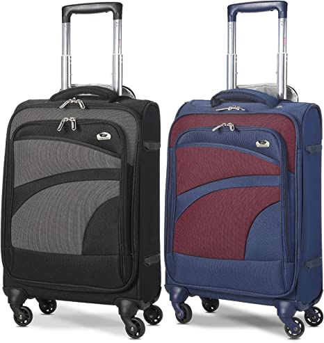 4-Wheel Spinner Super Lightest Lightweight Luggage Suitcase Cabin Trolley Cases