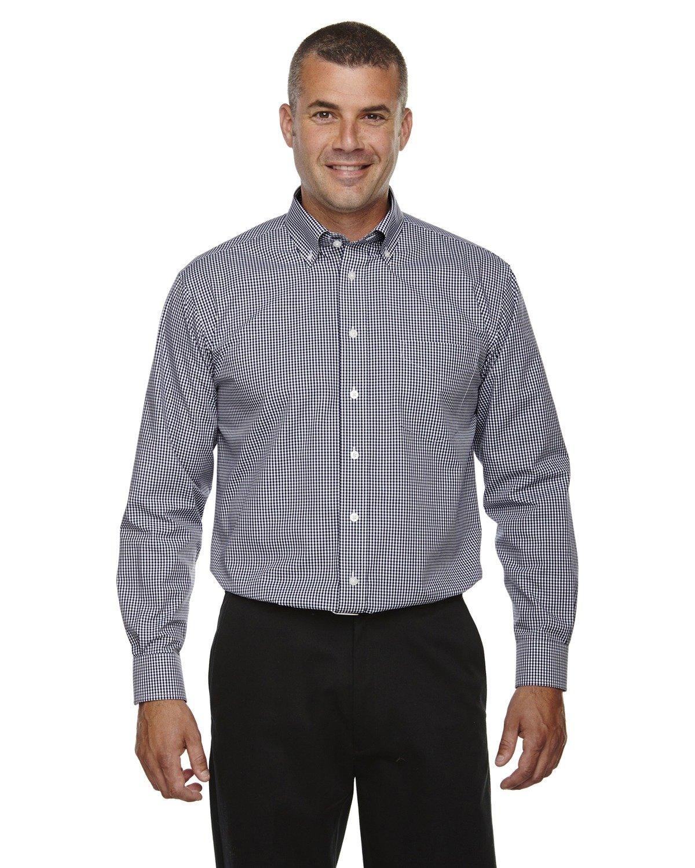 Averill's Sharper Uniforms Men's Server Fine Gingham Check No-Iron Shirt 3XL (54-56) Navy Gingham by Averill's Sharper Uniforms (Image #1)