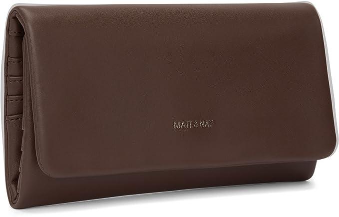 Amazon.com: Mate y NAT Verso Loom cartera, M, Soil: Clothing