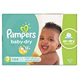 Diapers Size 3 (144 Count) - Pampers Baby Dry