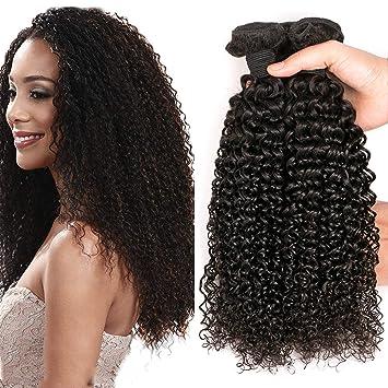 e948fdf704fa SingleBest 10 inch Tissage Brésilien Bouclé Vierge Cheveux Extension  Couleur Naturelle curly hair