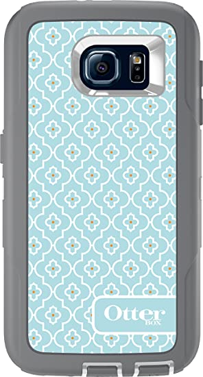 OtterBox Defender Series Case for Samsung Galaxy S6 (Only) - Non-Retail Packaging – Grey/Moroccan Sky