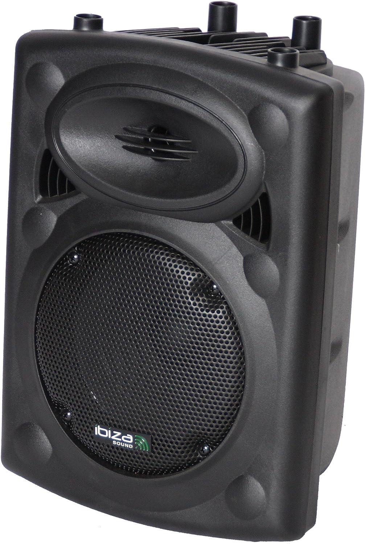 """SLK10A-BT - Ibiza - BaFLE PrOFESIONAL AcTIVO de 10""""/25CM 400W con USB-MP3 & Bluetooth, Negro"""