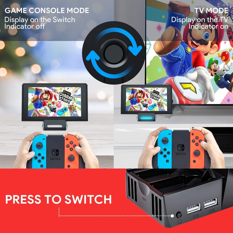 SuMile Switch Dock, Nintendo Switch Base de Carga Portátil para ...