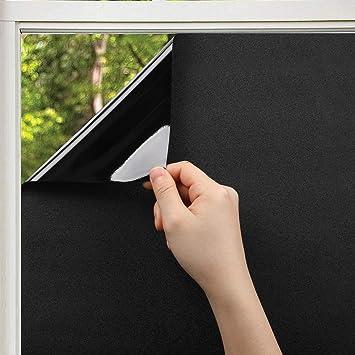 Hervorragend KINLO schwarze Fensterfolie 45 x 200 cm Sichtschutzfolie 100 NU07