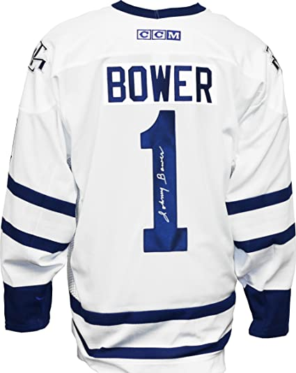 buy online 5fe5b 0ab6a Johnny Bower Signed Toronto Maple Leafs Away Jersey at ...