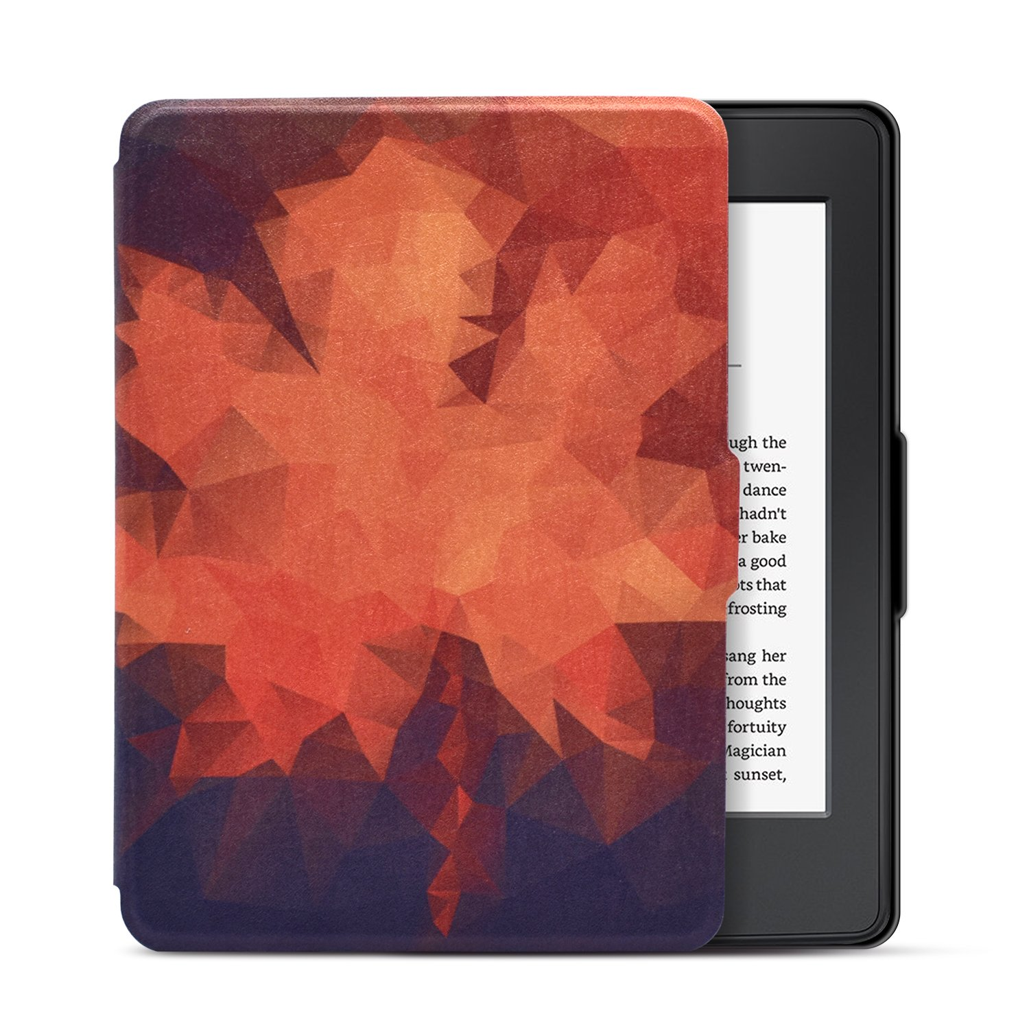 Dopup Kindle Paperwhite Case Light and Thin Smart Protective Cover for Amazon Kindle Paperwhite E-reader (Fits all 2012, 2013, and 2015 Versions), with Auto Wake/Sleep Function(Geometry Maple)