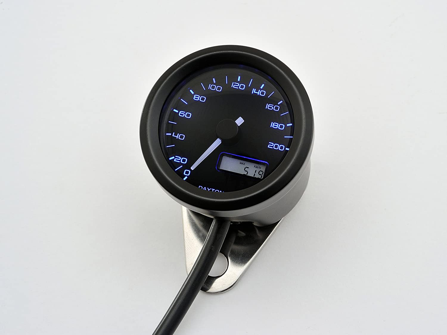 Daytona Velona Speedometer 200mph Black Multi Instruments Speedo Wiring Diagram Background Led Option Automotive
