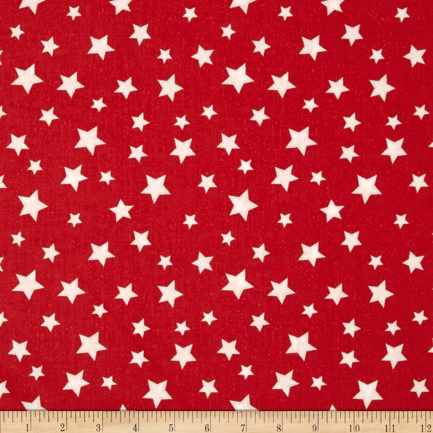 Wilmington Prints Essentials Star Fall Red/White Quilt Fabric By The Yard, Red/White