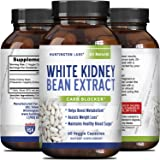Pure White Kidney Bean Extract for Weight Loss – Natural Starch & Carb Blocker – Premium Vitamin Capsules to Burn Fat and Lose Weight – Antioxidant Supplement for Women and Men - By Huntington Labs