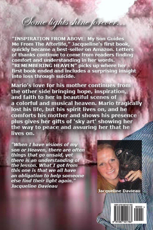 Remembering Heaven: Jacqueline Davieau: 9781987401783: Amazon com: Books