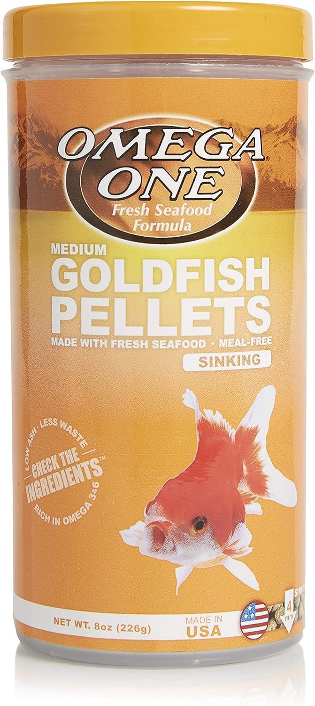 Omega One Goldfish Pellets, Sinking, 4mm Medium Pellets