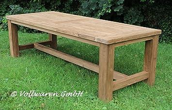 Teak Gartentisch Tyrion 220x100 Teakholz Antik Massiv Tisch Tafel