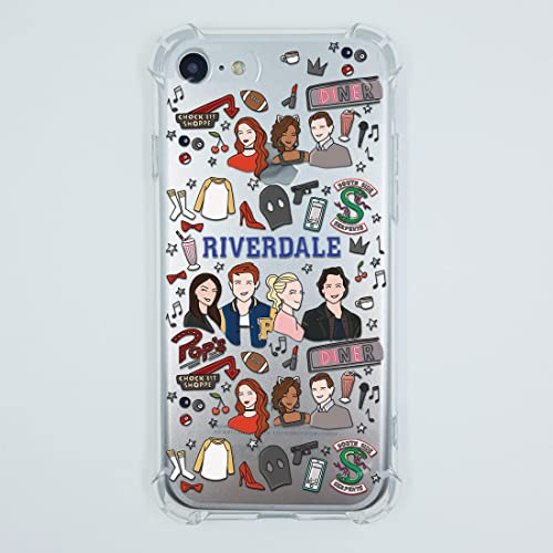 check out 22601 a7f7b Amazon.com: Riverdale iPhone 7 8 6 6s plus X Xs Max Xr 5 case Pops ...