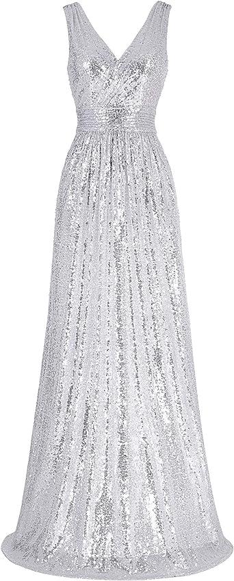 Kate Kasin Femme Robe Longue du Soir/Mariage