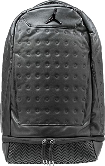 8bfdee3398a900 Amazon.com  Nike Air Jordan Retro 13 Backpack - Black 9a1898 023 ...