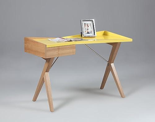 MILAN Kacey Gloss Yellow Modern Office Desk Review