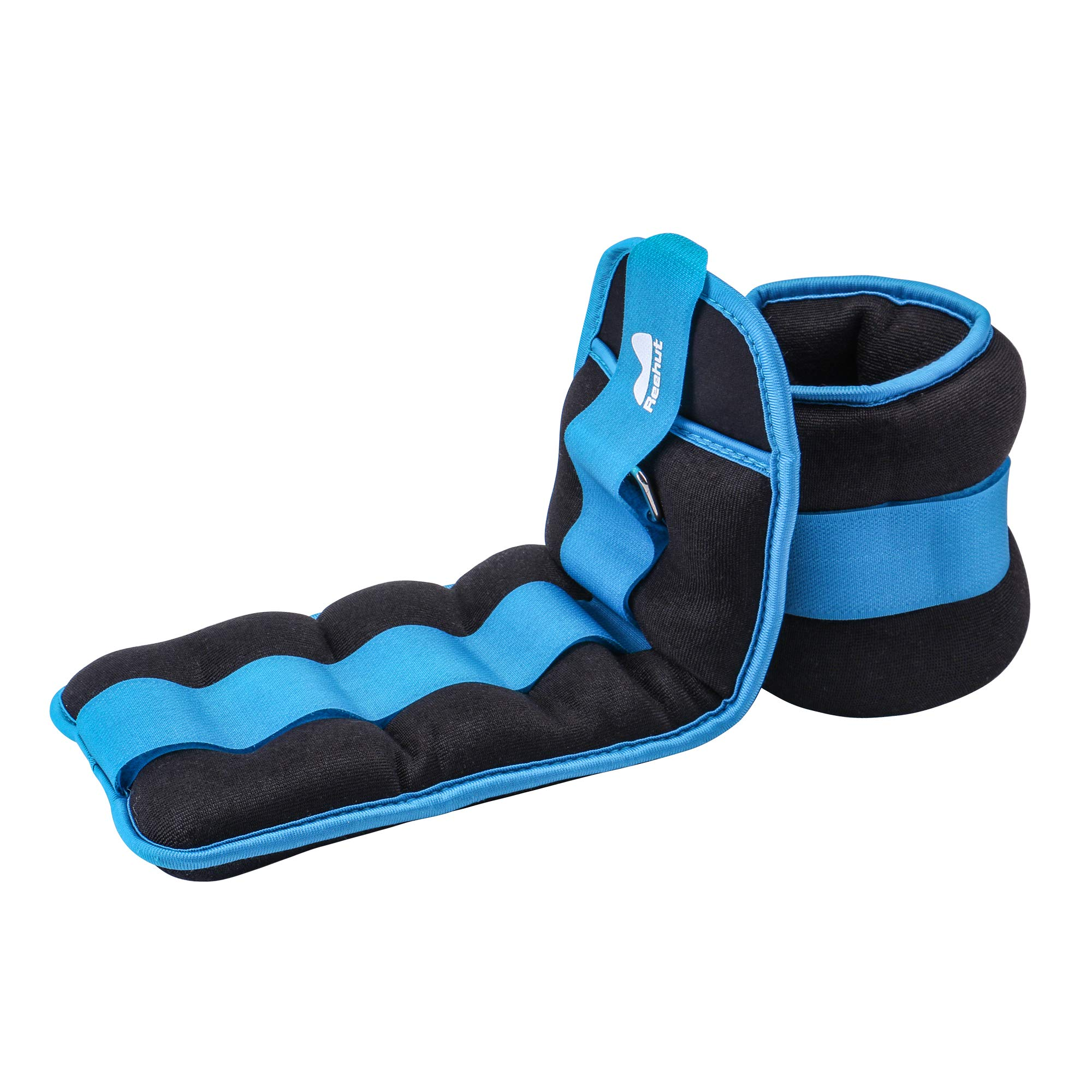 REEHUT Ankle Weights, Durable Wrist Weight (1 Pair) w/Adjustable Strap for Fitness, Exercise, Walking, Jogging, Gymnastics, Aerobics, Gym - Sky Blue -8 lbs Pair (4 lbs Each)