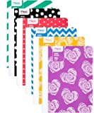 """Mead Composition Books / Notebooks, Wide Ruled, 9-3/4"""" x 7-1/2"""", Fashion, Assorted Designs, 6 Pack (73853)"""