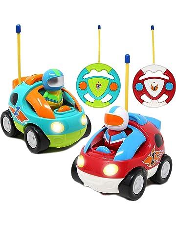 JOYIN 2 Pack Cartoon RC Race Car Radio Remote Control with Music   Sound  Toy for 30663534b