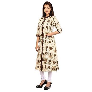 da49452e5a Long Ladies Cotton Kurti by Masadh Fashions   Comfortable Casual ...