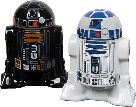 Bluw Star Wars Droid Salt and Pepper Shakers, Cerámica, Multicolor, Centimeters, 2 Unidades: Amazon.es: Hogar