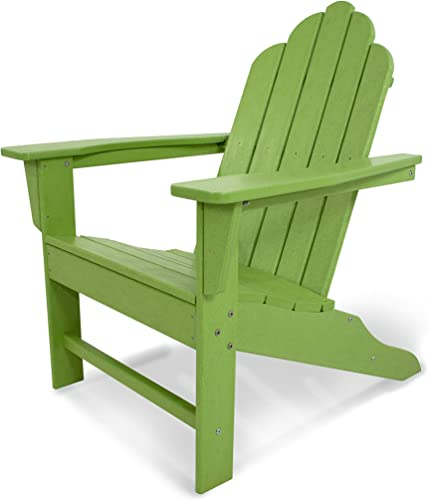 POLYWOOD ECA15LI Long Island Adirondack Chair, Height 38.50 – Width 31.25 – Depth 33.75 , Lime