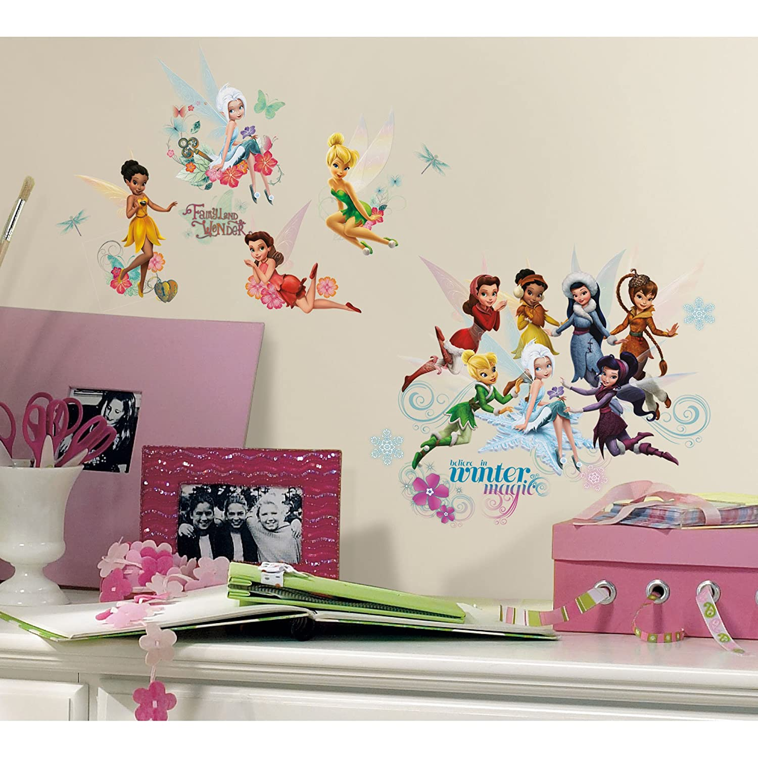 Beau Roommates Rmk2058Scs Disney Fairies Secret Of The Wings Peel And Stick Wall  Decals   Wall Decor Stickers   Amazon.com