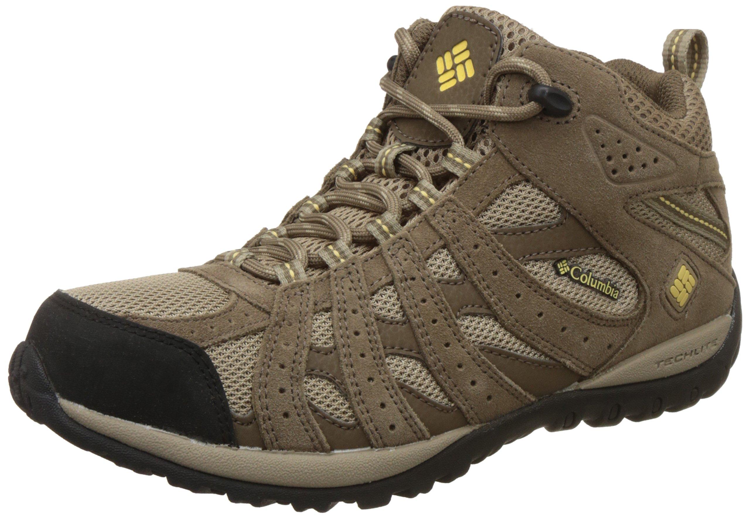 Columbia Women's Redmond Mid Waterproof Trail Shoe,Oxford Tan/Sunlit,9 M US