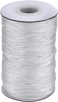 Winwinfly Blanc 1000 Yards Tress/é Cordon /Élastique Bande /Élastique Corde /Élastique Bungee Blanc Heavy Stretch Knit Bobine /Élastique Blanc 1000 Yards Largeur 2,5 mm
