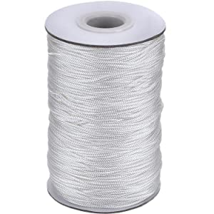 Outus 109 Yards/Roll White Braided Lift Shade Cord for Aluminum Blind Shade, Gardening Plant and Crafts (1.4 mm)