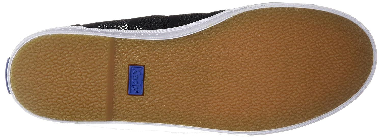 Keds Women's Kickstart Vent Striped Mesh Sneaker B073SJV3Z7 6 M US|Black