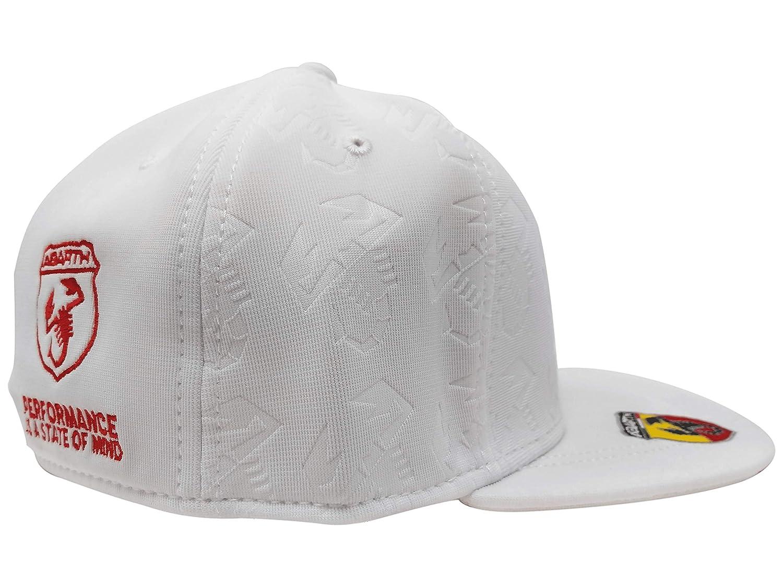 Abarth 21734 Cappellino Bianco Visiera Curva Estivo