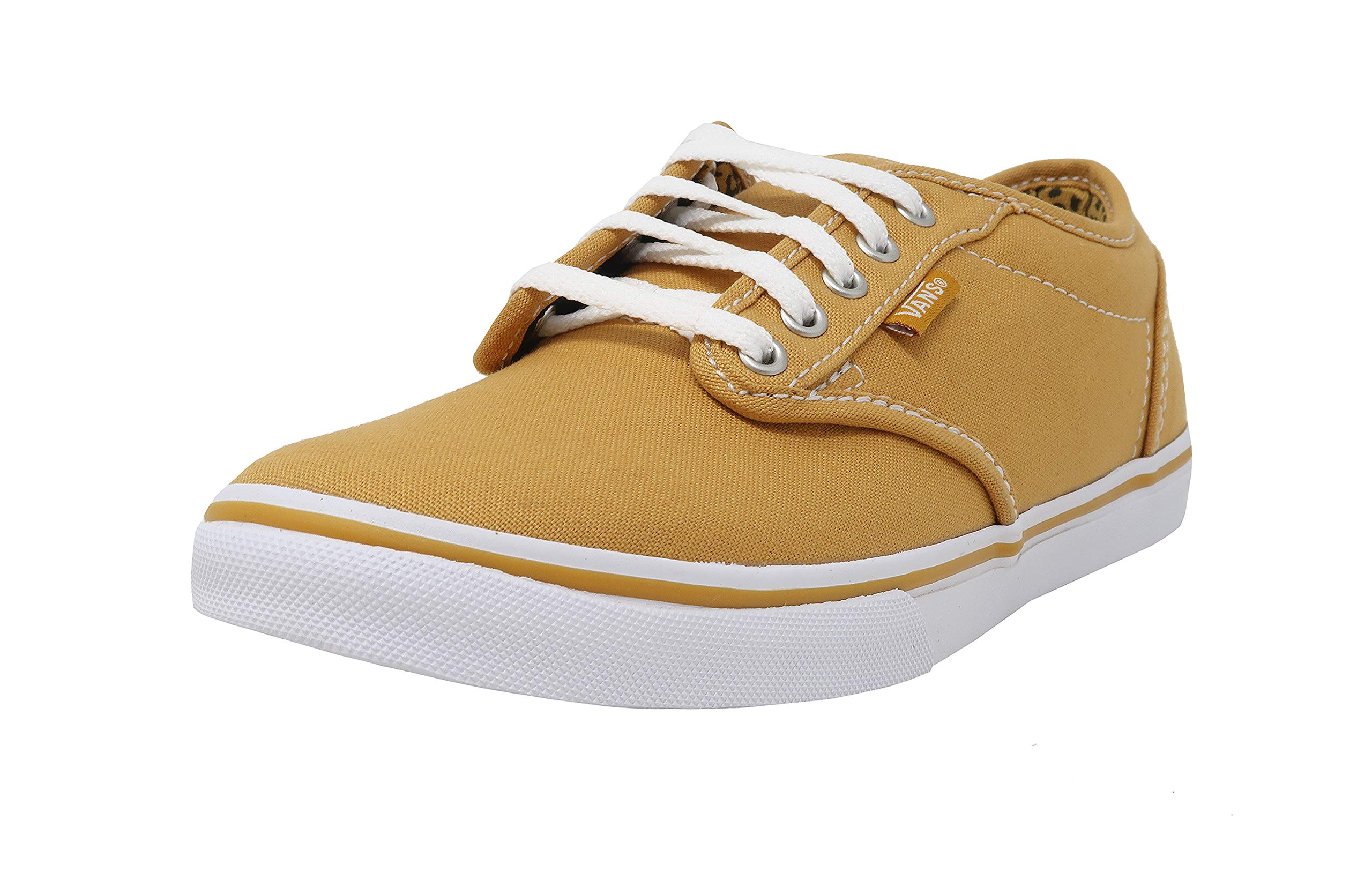 Vans Women's Atwood Low Canvas Skate Shoes Gold/White (11)