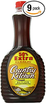 Com Country Kitchen Syrup Er 36 Ounce Pack Of 9 Grocery Gourmet Food