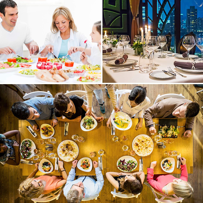 HOMEWINS Juego de Cubiertos 24 Piezas Hotel Acero Inoxidable Cubiertos de Mesa con Caja de Regalo Servicio Acabado Brillante Cocina Restaurante Vida Elegante para el Hogar