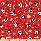 disney mickey and minnie nautical aye aye mickey and minnie multi fabric by the yard - Disney Christmas Fabric