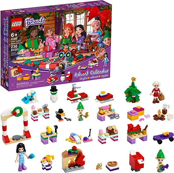Amazon Com Lego Friends Advent Calendar 41420 Kids Advent Calendar With Toys Makes A Great Holiday Treat For Children Who Love Toy Advent Calendars And Buildable Figures New 2020 236 Pieces Toys Games
