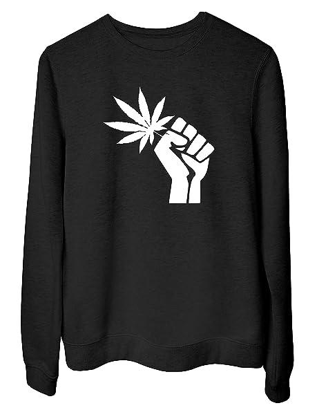 T-Shirtshock Sudadera para Las Mujeras Negro DEC0266 Revolution Marihuana: Amazon.es: Ropa y accesorios