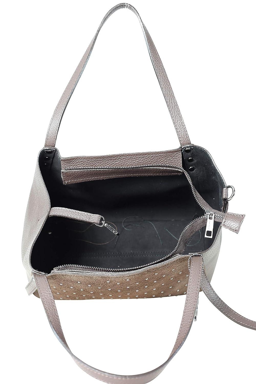 collezione alessandro Clarins läderfodral med eleganta mikroknoppar 30 cm x 24 cm x 13 cm Brun
