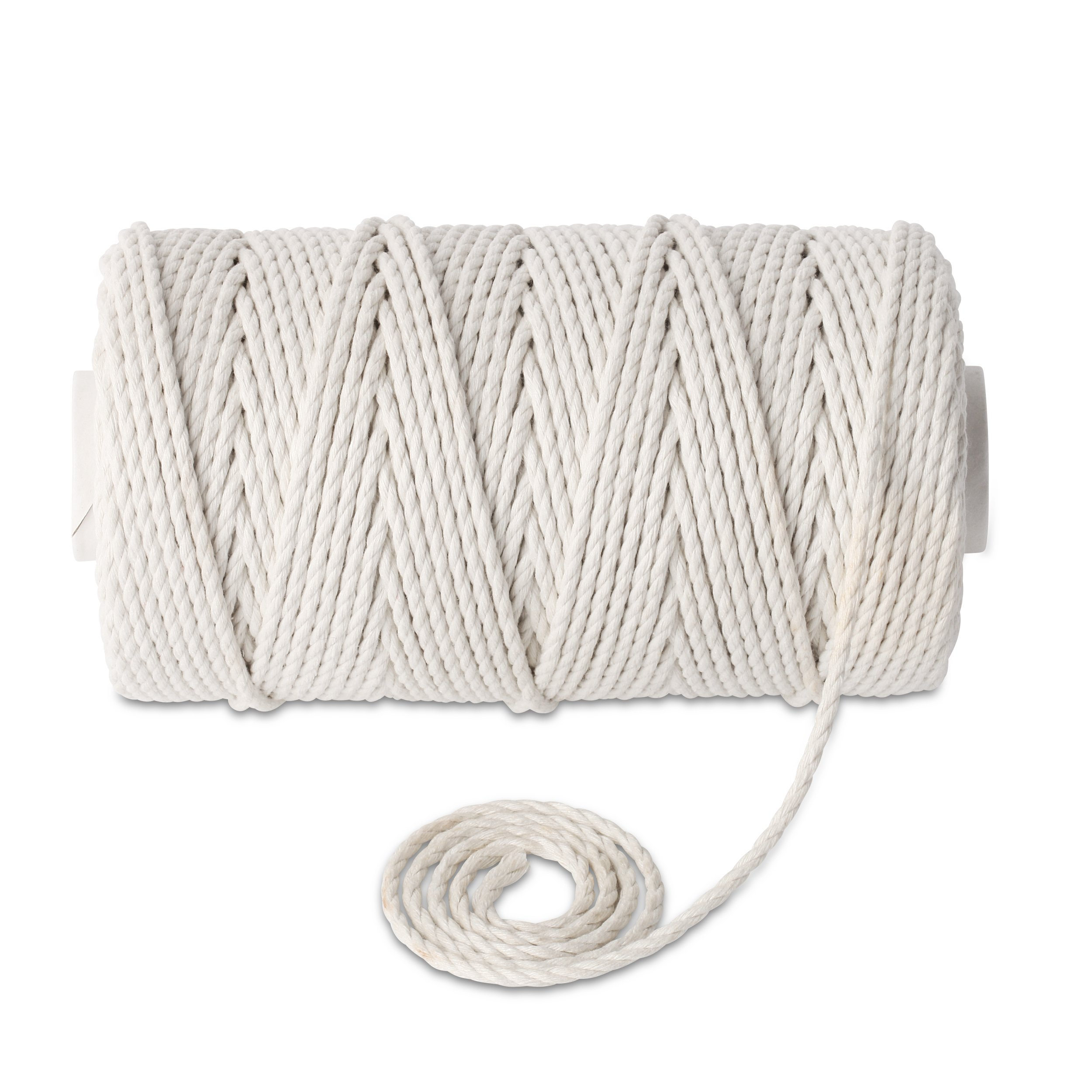 Stillness Crafts 4mm Macrame Cord - Best for Plant Hanger Wall Hanging Craft Making Dream Catchers Macrame Supplies Natural Cotton Yarn Macrame Rope