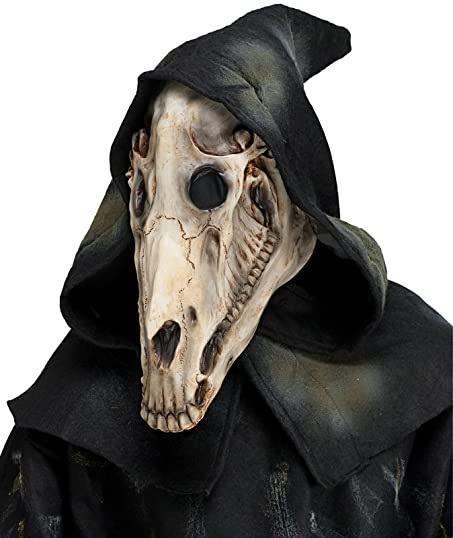 Amazon Com Adult Latex Horse Skull Mask With Shroud Clothing