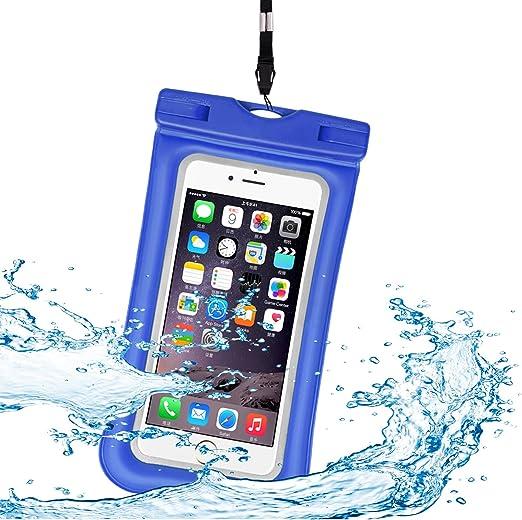 Htwon universel Coque étanche, IPX 8 flottant étanche pour téléphone portable Underwater Dry Bag pour iPhone X, 8/8 Plus, 7/7 Plus, Samsung Galaxy ...