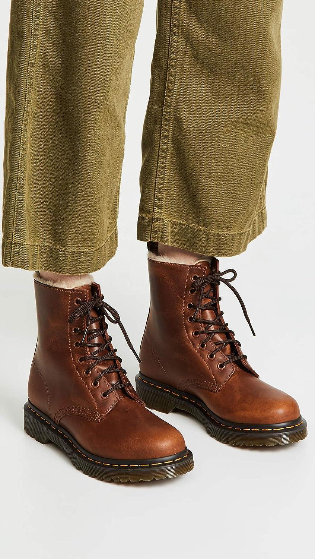 dr martens serena fur lace boot
