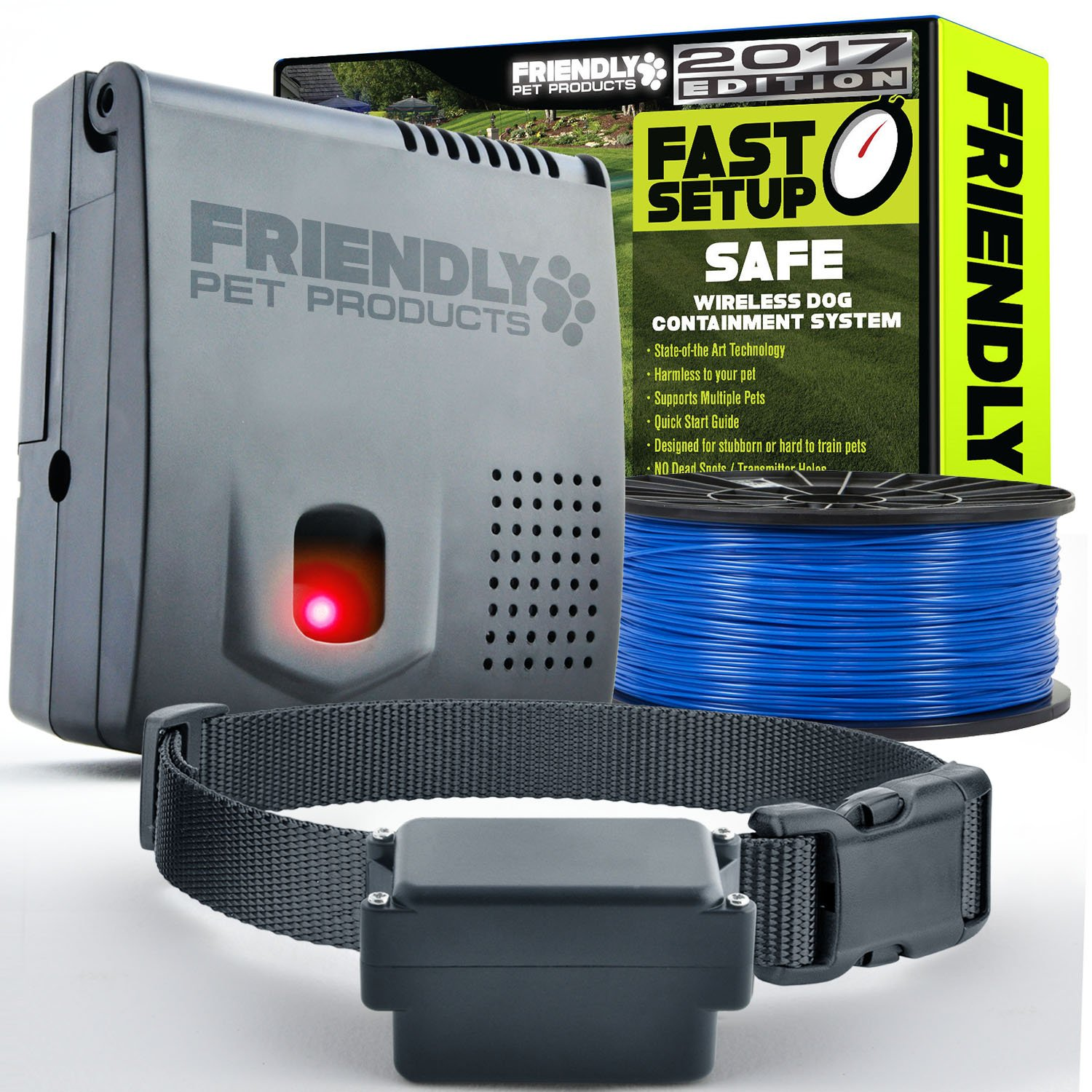 Wireless Dog Fence with Friendly Pet Products