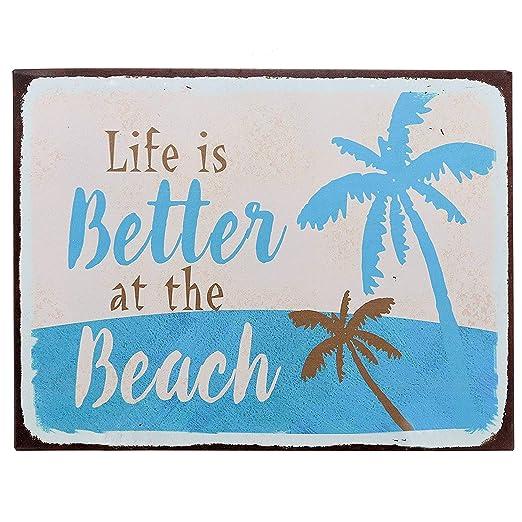 Wise Degree Life Beach Cartel de Metal Pared Arte Tienda Pub ...