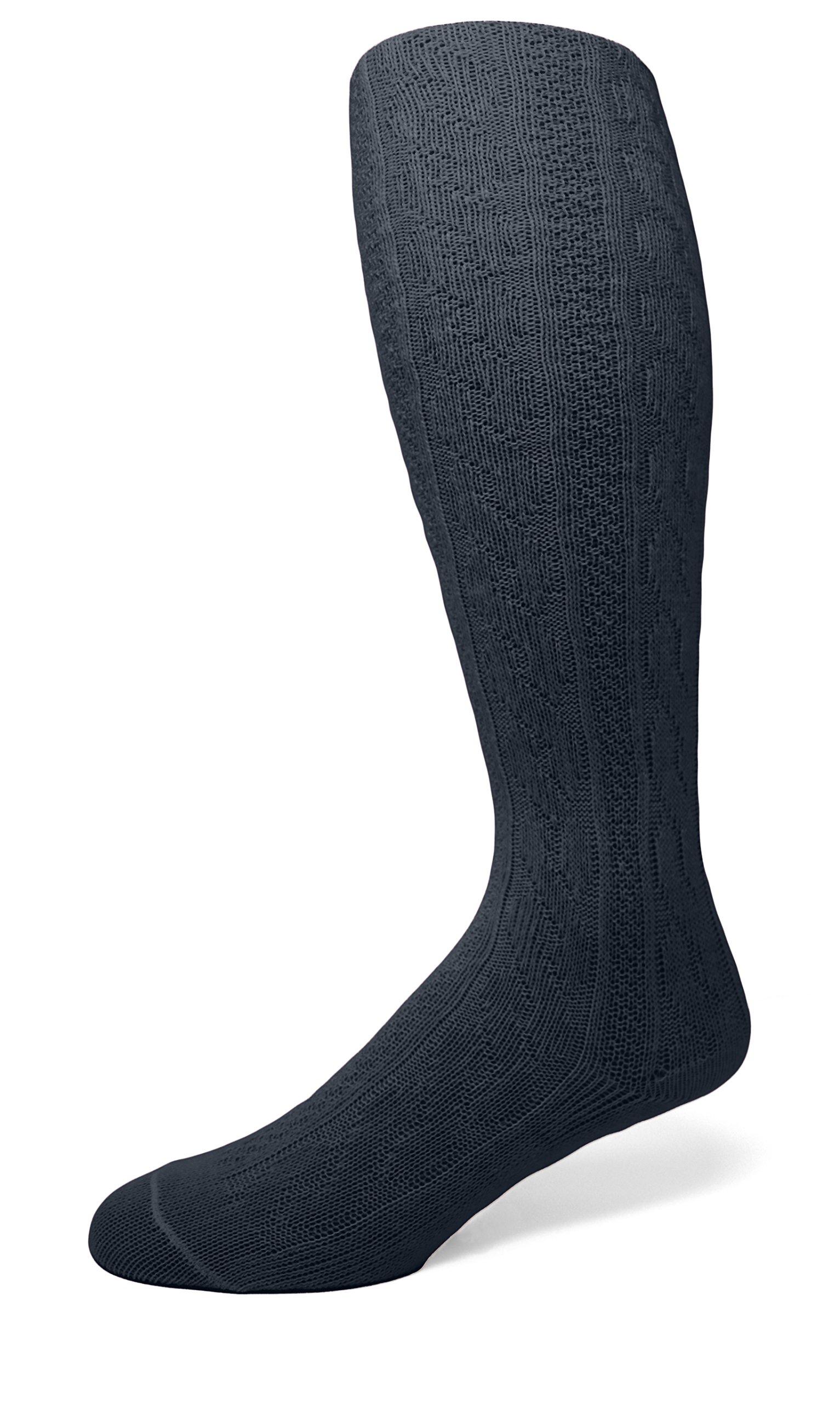 EMEM Apparel Girls' Kids Children's Cable Knit Opaque School Uniform Sweater Winter Tights Hosiery Stockings Navy 12-14
